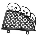 Mensola per Doccia ad Angolo, Parete a Parete in Ferro battuto a Parete con organizzatore di stoccaggio per Cucina Bagno