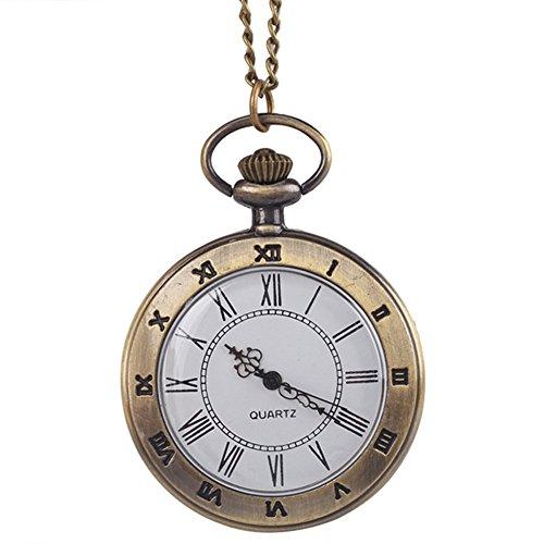 Telefono antico romano Open Face movimento al quarzo da tasca catena collana ciondolo charm