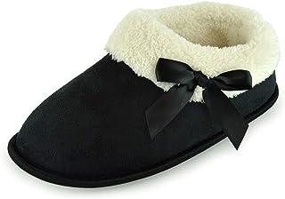 DINZIO Indoor Outdoor Slipper Boots for Women Winter Warm Cosy Super Soft Knit Ladies Booties Gift