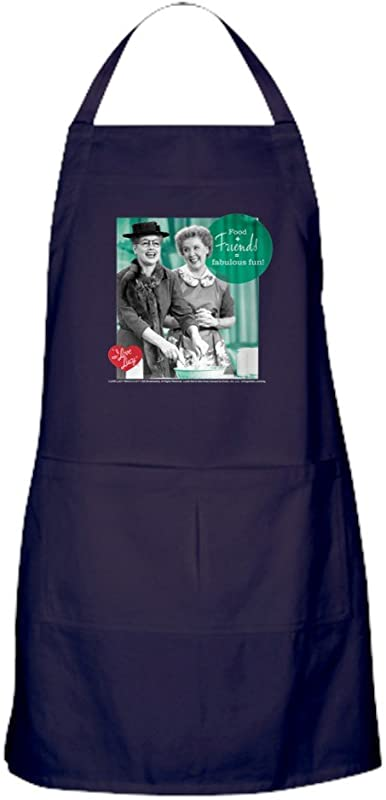 CafePress I Love Lucy Fabulous Fun Kitchen Apron With Pockets Grilling Apron Baking Apron