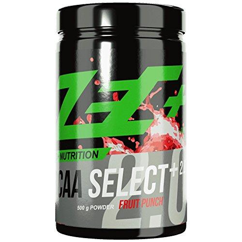 ZEC+ BCAA Select 2.0 – 500 g, BCAA Pulver mit Leucin, Valin & Isoleucin, Aminosäuren Supplement mit Vitamin B6, Geschmack Fruit Punch