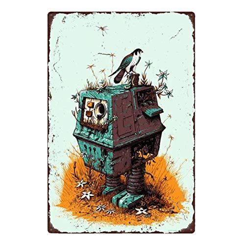 bestmugcupSS Science Fiction Movie Space Galaxy Battle Home Decoration Tin Sign Plaque 35cmdiameter 10