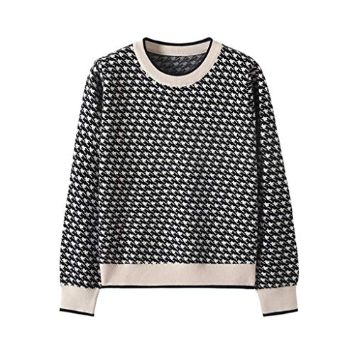 UXZDX Suéter de Punto de Fondo básico Coreano Flunced Costuras Suéteres Suéteres Slim Cálido Grueso Tops de Punto