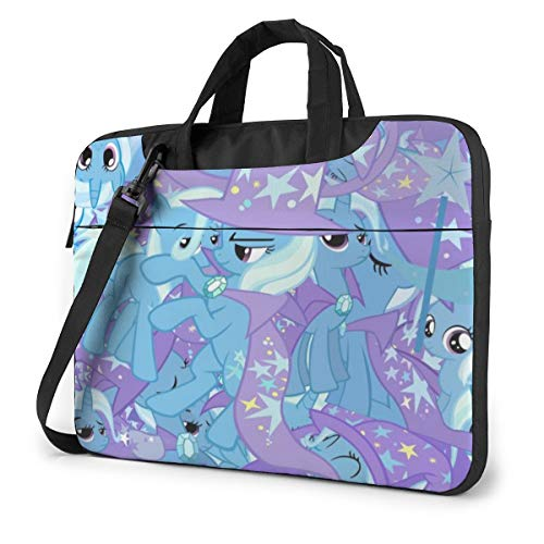 My Rainbow Pony Laptop Sleeve Case Handheld One Shoulder Shockproof Oxford Protective Case/Notebook Computer Pocket Case/Tablet Briefcase Carrying Bag Compatible-13 inch