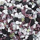 Nobleza - 2.4kg Pecera, Acuario, Jarrón, Tanque de Tortuga, Piedras de Decoración de Jardín, Piedra Mixta de Cuatro Colores-6 Botellas