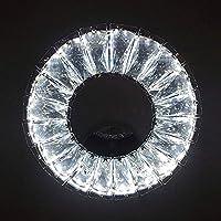 BGHDIDDDDD ウォールランプブラケットライトモダンledウォールライト12W調光可能ステンレススチールポリッシュクローム仕上げウォール燭台リングクリスタルシェード寝室用リビングルーム廊下用屋内ウォールランプ
