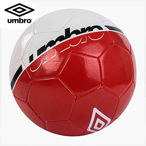 Umbro Veloce Supportter Pallone da Calcio, Bianco/Rosso (Fiery Red) / Nero, 5