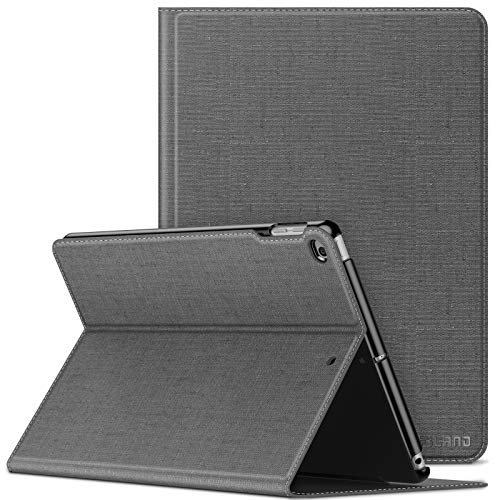 INFILAND iPad Air 2/ipad Air Case,iPad 2018/2017 9.7 inch Case(6th/5th Generation),Shockproof Leather Stand,Smart Cover with Auto Sleep/Wake Fit ipad Air 2/ipad Air,ipad 9.7 2018/2017,Gray
