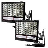 <グレードアップ>超薄型・超高輝度 LED投光器 50W 500W相当 昼光色 5000LM 幅広AC85~265V 広い範囲照射可能 放熱性高い 耐久型 防塵防水レベルIP66同等以上 フラッドライト 車庫・船舶・工場適用 余裕の3mコード プラグ付き 利便性高い 一年保証付き(黒, 50W 2個)