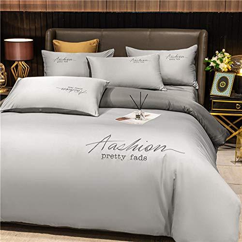 Bedding-LZ Funda de edredón 220x240,Lavado y Hielo Seda Sleep Sleep Sleep Capado de Cuatro Piezas-Di_1,5 m la Cama (4 Piezas)