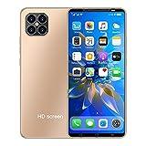 LINGOSHUN Smartphone,512 MB de RAM Y 4 GB de Almacenamiento,128G Ampliable Teléfono Móvil sin SIM,con FuncióN de Reconocimiento/dorado / 4.7 Inches