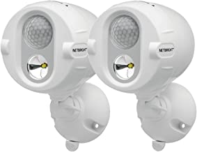 Mr Beams MBN342 Networked LED Wireless Motion Sensing Spotlight System with NetBright Technology, 200-Lumens, White, 2-Pack