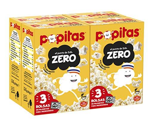 Popitas Zero Pack 3. caja 4u. | Palomitas de Maíz para Microondas