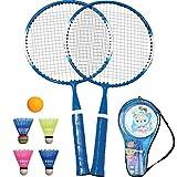 TINTON LIFE 1 Pair Badminton Racket for Children Indoor/Outdoor Sport Game(Blue)