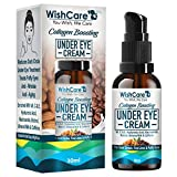 WishCare® Collagen Boosting Under Eye Cream For Dark Circles & Wrinkles - Enriched With Caffeine, Almond Milk, Vitamin C& E, Hyaluronic Acid, Retinol - 30ml - Best Reviews Guide