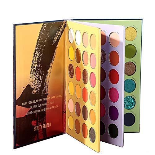 Beauty Glazed 72 Farben Lidschatte Palette Set Bunt Nudetöne Eyeshadow Colorboard Metallic Matt Schimmern Schminkpalette Professional Makeup Club Cosmetics Ein Geschenk für Make up Liebhaber