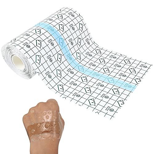 Wasserdicht Transparent Bandage Medizinisches Transparentes Klebeband PU Folie Tap Antibakterielle Klebebänder Geeignet für Medizinische Verbandsfixierung und Gipsfixierung,5cm * 10m