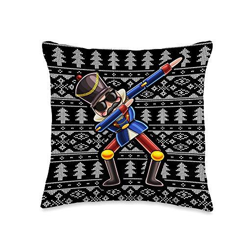Christmas Nutcracker Throw Pillows Dabbing Nutcracker Christmas Holiday Decoration Gift Women Throw Pillow, 16x16, Multicolor