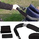 2 Coprimaniglie Universale per Passeggini con Due Manici,Passeggino Passeggino Copri maniglia in neoprene