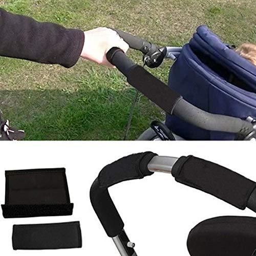 2pcs Baby Kinderwagen Buggy Griffhülle, Skid Multi Widerstand Rollstühle Anti-Rutsch-Matte Hand-Schutz-Abdeckung Werkzeuge