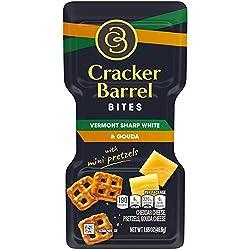 Cracker Barrel Bites Vermont Sharp White Cheddar Cheese & Gouda with Mini Pretzels (1.65 oz Tray)