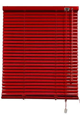 Decorestor Persianas Venecianas de Aluminio A TU Medida, Anchos de 36 a 240cm. Rojo. Venecianas Aluminio, Cortinas venecianas