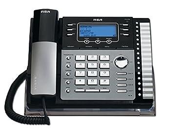 RCA 25425RE1 na 1-Handset 4-Line Landline Telephone,Silver