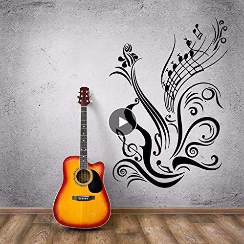 R Note Wall Music Style Vinilo Adhesivo De Pared Decoración Musical Nuevo Diseño R Notes Vinilo Wall Poster 56 * 82Cm