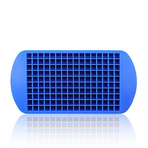 Ganzoo Eiswürfel-Form aus Silikon, Mini-Eiswürfel für Cocktails, Crushed Ice, Gießform, Pralinen-Form für Zuckerguss, Schokolade, Fondant, Gelee, Farbe: blau - Marke