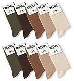 10 Paar Socken von Mat und Vic's für Sie & Ihn - Cotton classic bequem ohne drückende Naht - angenehmer Komfort-B& - OEKO-TEX Standard 100 (39-42, Earth Colors) 39-42