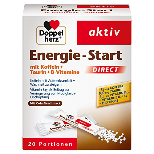 Doppelherz Energie-Start DIRECT Micro Pellets – Pellets mit Vitamin B5 und B12 als Beitrag zur Verringerung von Müdigkeit und Erschöpfung – 1 x 20 Portionen