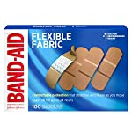 Johnson & Johnson Band-Aid Brand Flexible Fabric Adhesive Bandages for Wound Care and First Aid, All One Size, 100 Count… 12 100-count Band-Aid Brand Flexible Fabric Adhesive Bandages for first aid and wound protection of minor wounds, cuts, scrapes and burns Made with Memory-Weave fabric for comfort and flexibility, these bandages stretch, bend, and flex with your skin as you move, and include a Quilt-Aid comfort pad designed to cushion painful wounds which may help prevent reinjury These Band-Aid Brand Flexible Fabric adhesive bandages stay on for up to 24 hours and feature a unique Hurt-Free Pad that won't stick to the wound as they wick away blood and fluids, allowing for gentle removal