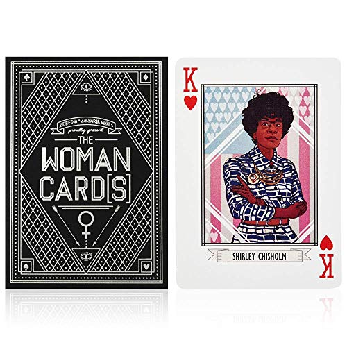 The Woman Cards - Premium Illustrated Feminist Playing Cards - Features 15 Powerful American Women, 2nd Edition - 1 Deck - Made in The USA