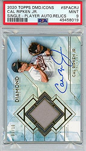 Cal Ripken Jr. Baltimore Orioles Autographed 2020 Topps Diamond Icons Relic #SPACRJ #9/10 PSA 9 POP 1 Card - Topps - Baseball Slabbed Autographed Cards