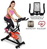 Miweba Sports Profi Indoor Cycling Bike MS400 Ergometer Heimtrainer - App-Steuerung - 22 Kg Schwungmasse - Pulsgurt