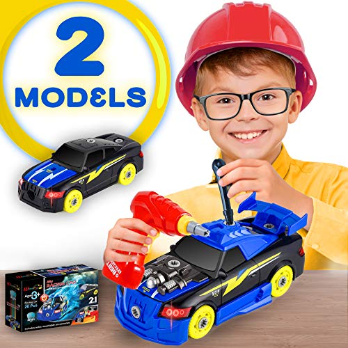 Racing Car Take Apart RC Toys STEM Toys Vehicle Build Car kit Constructions Set Best Birthday Gift for Boys and Girls Kids Age 3 4 5 6 7 Toddlers Preschool Engine Sounds & Lights Assembly Set