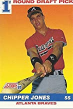 chipper jones 1st round draft pick card