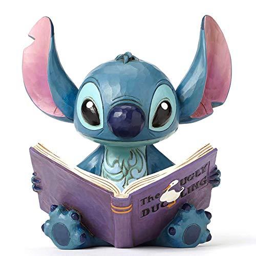 """Disney Traditions, Figura de Stitch Leyendo """"El Patito Feo"""", por Jim Shore, Para coleccionar, Enesco"""