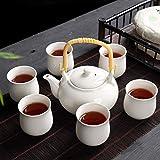 NOSSON Juegos de té para Adultos Juego de té de cerámica con patrón Agrietado de Hielo con para el hogar Oficina de cerámica para el hogar