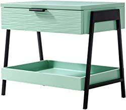 Bedside Table Bedside Table, Simple and Stylish, Stylish Green Geometric Creative Bedside Cabinet Storage Furniture, Suita...