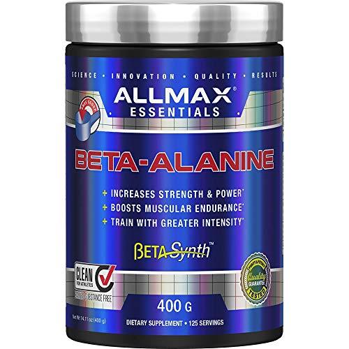 ALLMAX Nutrition - 100% Pure Maximum Strength + Absorption - Beta Alanine - 400 Gram