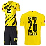 PUMA Borussia Dortmund BVB Heimset 2020 2021 Home Kit Sponsor BL Logo Herren Lukasz Piszczek 26 Gr M