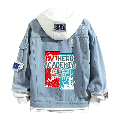 3D Printed My Hero Academia Todoroki Shoto Hoodies, Unisex Adulto/Adolescente Talla Grande, Chaqueta Vaquera, Hip Hop Winter Hoodies, Winter Long Sleeve Hoodie Coat Jacket(S-3XL)