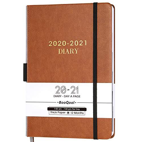 Kalender 2020-2021 - Einem Tag pro Seite Produktivität Tageskalender von Juli 2020 bis Juni 2021 mit Monatlichen Registerkarten, Innentasche, Gebändert, 14,3 x 21 cm