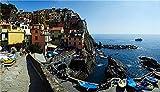 NA Puzzle Jigsaw Rompecabezas De 1000 Piezas Coast Houses Italy Cinque Terre Park Manarola para Niños Adultos