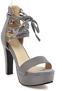 BalaMasa Womens ASL06705 Pu Platform Heels