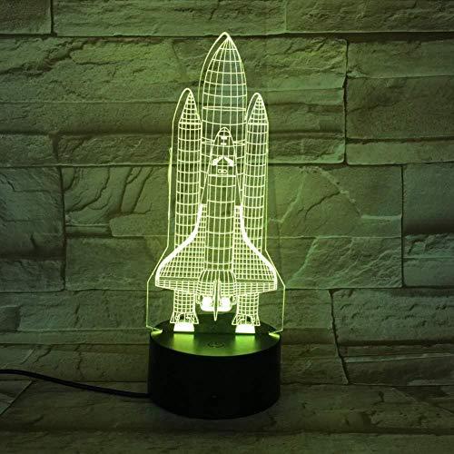 Luz de la noche Proyecto Espacio 3D Lámpara Luz de noche Colorida con Remoto Led Luz de Noche Lámpara Holograma para Festival Recompensa