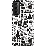 Skinit Pro Phone Case Compatible with Galaxy S21 5G - Officially Licensed Disney Alice in Wonderland Silhouette Design