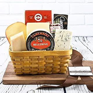 igourmet 3 Pounds of Gourmet Cheese assortment Favorites in a beautiful large Gift Basket - Box