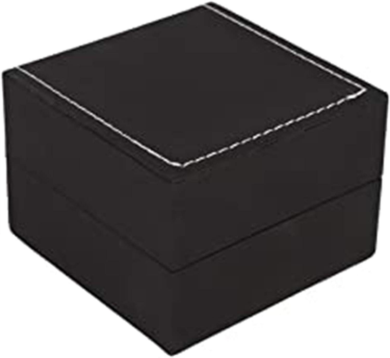 Nawxs Caja de Reloj de Cuero de Cuero de PU de Alta Gama Caja de Reloj de Embalaje Caja Negra Caja de Embalaje Caja de Regalo de joyería